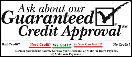 Bad Credit, No Credit is No Problem.  All cars have a 60 day limited warranty.  Quality Used Cars